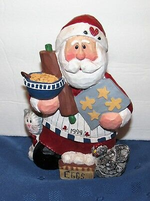Midwest of Cannon Falls Santa Claus Baker Figurine Gooseberry Patch Eddie 1999