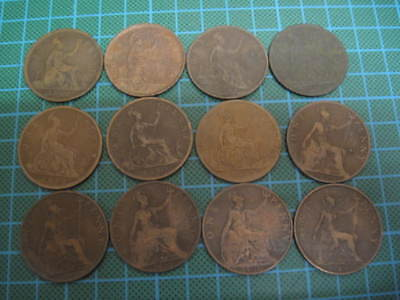 Great Britain 1867-1967 Penny Date Set, Total 59 coins