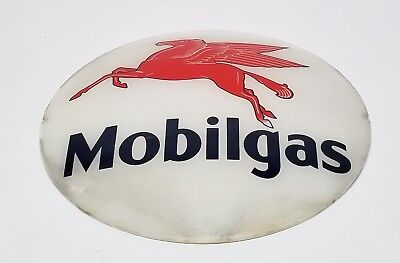 Vintage Original Pegasus Mobil Gas Pump Globe Lense - Not A Reproduction!