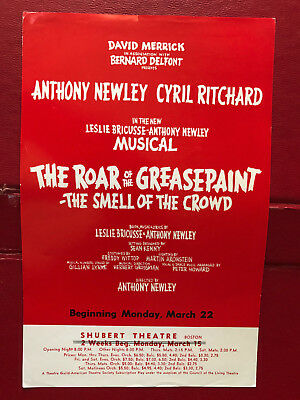"""The Roar of the Greasepaint–The Smell of The Crowd"" - Shubert Theatre Boston"