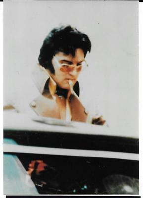 Rare Elvis Candid Smoking Cigar 1975 Getting In Limo Photo Estate Lot #205
