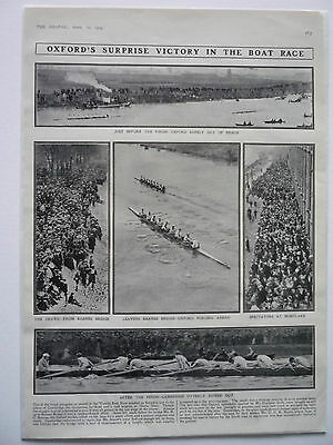 """. """" Oxfords Surprise Victory In The Boat Race."""" 1909 Rare."""
