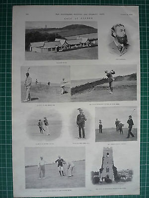 "Victorian Golf Prints. "" Golf At Cromer, Norfolk."" 1899."