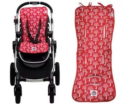 Babychic Cotton Pram Liner - Red