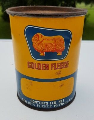 Vintage Golden Fleece 1Lb Grease Tin Rare