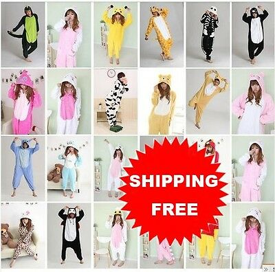 Big Sale! Unisex Adult Pajamas Kigurumi Cosplay Costume Animal Sleepwear Suit
