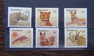 Zimbabwe 1989 Endangered Species set MNH
