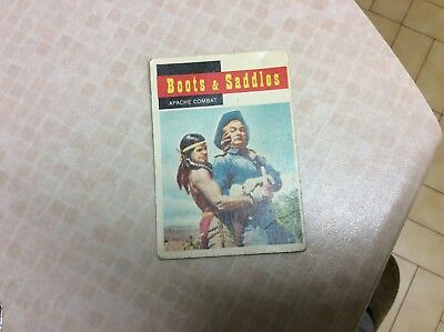1958 Topps, TV Westerns, #67 Boots & Saddles, Apache Combat