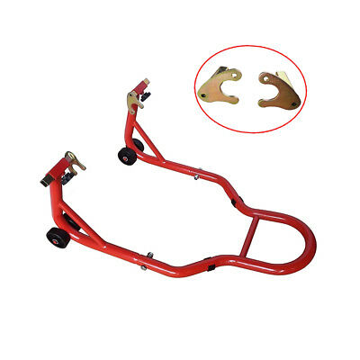 Universal Motorcycle Rear Paddock Stand Motorcycle Maintance Tool Red UK Stock
