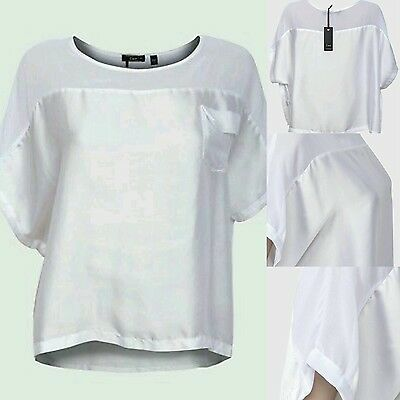 10X Ladies Blouse Chiffon Satin White Tops Job Lot Wholesale