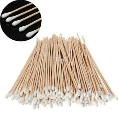 "Extra Long Cotton Medical Swab 6"" Wooden Handle Makeup Applicator Bud Stick"