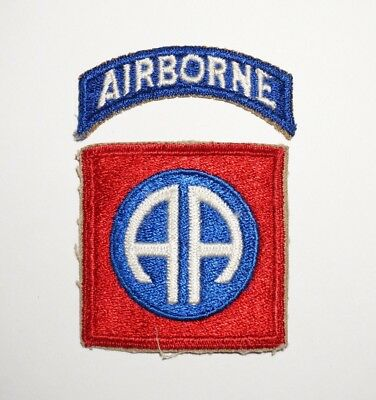82nd Airborne Division Patch With Tab WWII US Army P5224