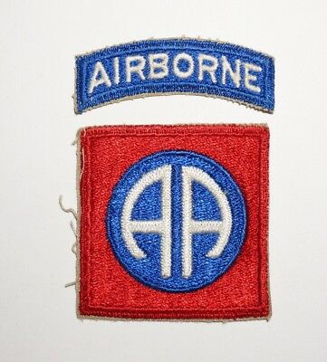 82nd Airborne Division Patch With Tab WWII US Army P5225