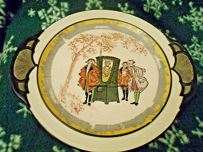 Rare Royal Doulton Lady in Sedan Chair Handled Tray D 3597~18th C. Style~C.1912~