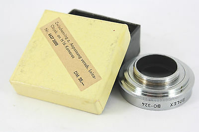 Bolex BO324 adapter, boxed, Leica L39 to C mount adapter