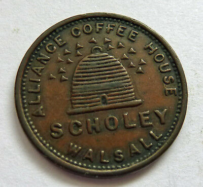 WALSALL (Staffordshire) FARTHING SCHOLEY Book Seller LotD27