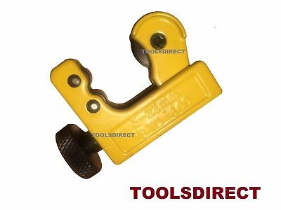 Toolzone MINI BRAKE PIPE Tube Cutter Copper Brass 3 -22mm 1/8 -7/8in incl. 15mm