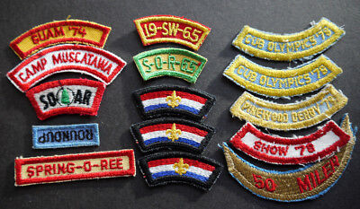 badge boy scouts patch 15 items soar roundup camp muscatawa guam 74 cubs derby
