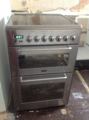 Delonghi Free Standing Electric Cooker In Stainless Steel Halogen Hob