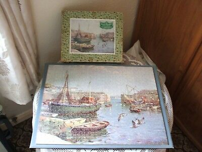 Vintage Victory 500 Piece Wooden Jigsaw Puzzle.'Safe Anchorage Mousehole' Boxed