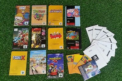 Various Nintendo 64 Instruction Booklets + Posters etc.