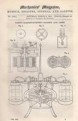 ---: Paine's Magneto-Electric Machine And Light; On Impossible Equations, By Rob