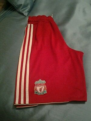 Adidas Liverpool shorts,colour red,size 13/14years.