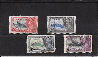 Jamaica  Q012 Heavily Cancelled 1935 Kgv1 Silver Jubilee Stamps Val 25.00 2007