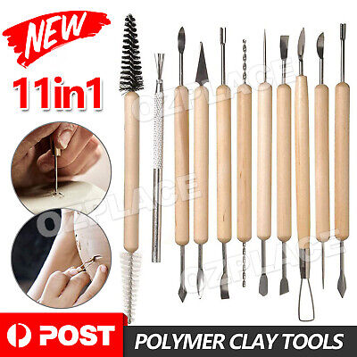 New 11Pcs Set Wood Clay Sculpting Carving Chisels Tool Hand Craft Kit DIY Hobby
