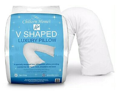 Luxury V Shaped Orthopaedic Maternity Pregnancy Hollowfibre Polycotton Pillows