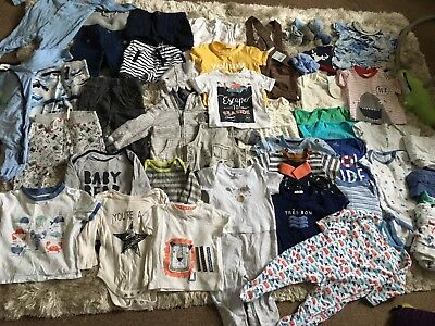 HUGE baby Boy Clothes Bundle 6-9 Months, 45 Items! Excellent Condition.