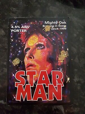 David Bowie Starman Pump Clip