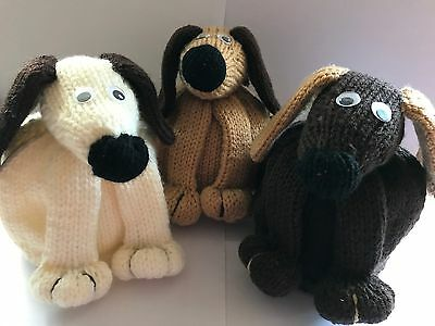 Hand Knitted Dog Tea Cosy Suitable for medium to large pot free P & P