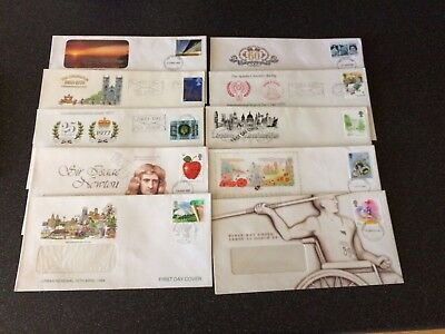 Collection of 10 First Day Covers 1977 - 1988 Excellent Condition