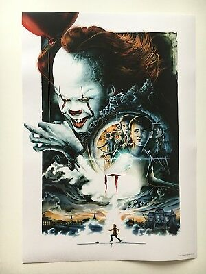 Official IT Pennywise UK Odeon Midnight Screening Movie Poster Ltd Edition King