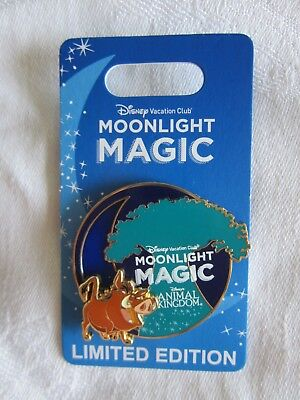 Disney Vacation Club Moonlight Magic Pin Pumba Animal Kingdom LE New