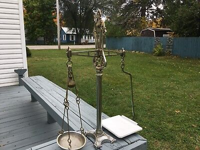 Vintage Antique Store Counter Balance Candy Tobacco Scales Berry & Warmington