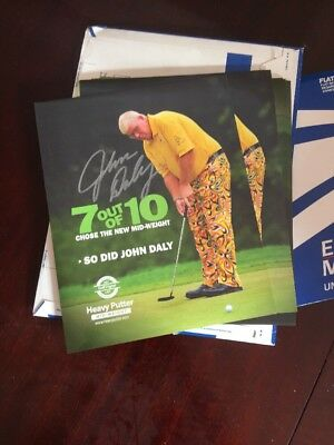 John Daly Signed Pictures