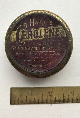 HARDY BROS ALNWICK Tin of CEROLENE preparation for Spinning and Dry Fly Lines