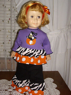 Purple & Pumkpin Halloween/Fall outfit fits Chatty Cathy ADORABLE!!