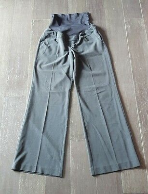Thyme Maternity Pants Size Small Stretchy Work Wear Pregnancy Grey