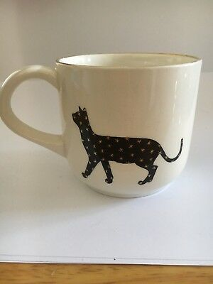Arthur Wood Black Cat Gold Star Cup - Collectible - Potteries