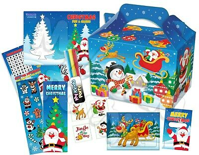 Pre Filled Christmas Party Box - Xmas Stocking Parties Activity Gift Bags