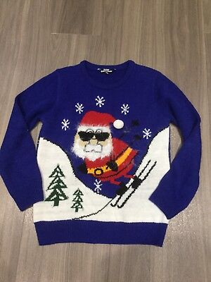 Matalan. Boys Christmas Jumper. Blue. Age 10-11