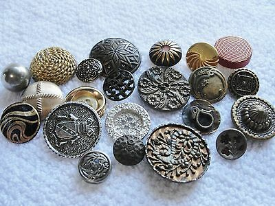 Vintage Antique Buttons Metal From Estate Flowers Florals Perfume Brass Copper