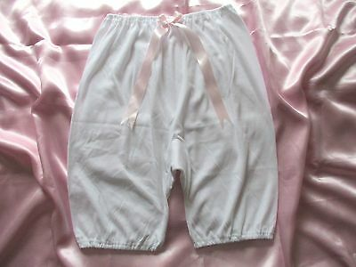 BEAUTIFUL VINTAGE KNICKERS BLOOMERS 100% SOFT COTTON with PRETTY PINK BOW UK