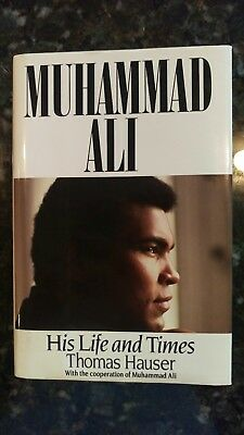 Muhammad Ali Signed book His Life and Times.