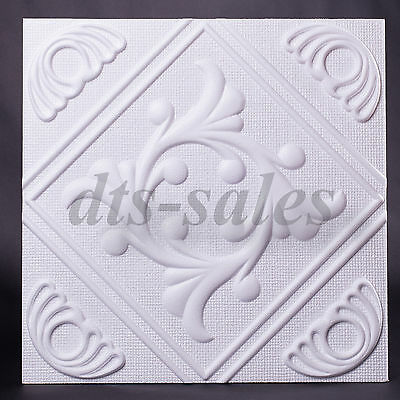 """2m² Polystyrene Ceiling Tiles """"ANET"""" Fire resistant (pack of 8) 50cm x 50cm"""