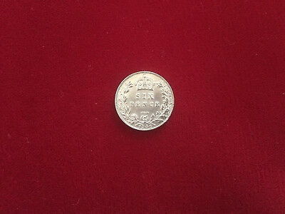 King Edward VII 1902 Silver Sixpence in near Uncirculated condition