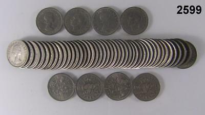 Lot Of 50 Sixpence British Good Luck Wedding Coins 1948 - 60's Multi Lots #2599